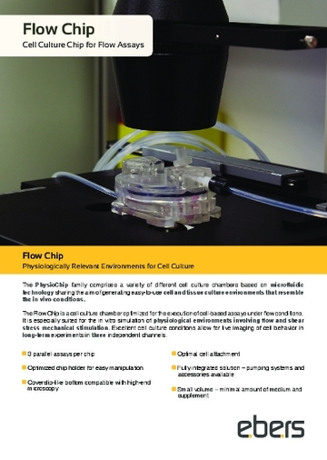 Flow chip brochure, page 1